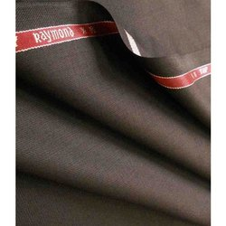 Brown Raymond Wool Solid Trouser Fabric