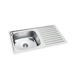 45x20x8 AMC Single Bowl Sink with Drain Board