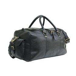 Plain Genuine Leather Weekend Duffle Travel Bag, For Sports