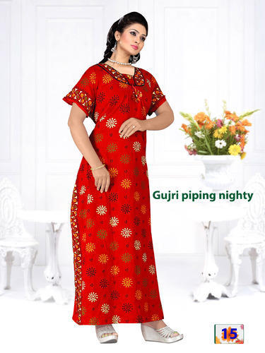 Cotton Full Length Printed Gujri Nighty 8c6ee0ae0
