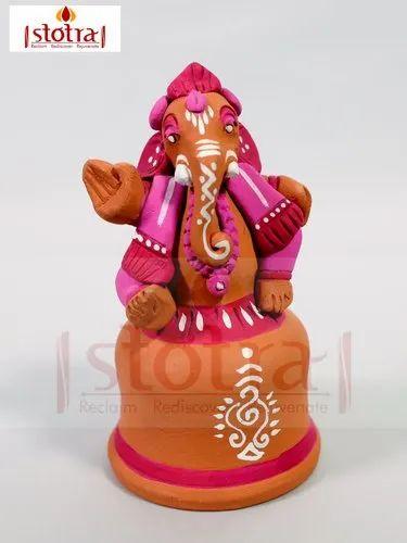 Painted Terracotta Ganesha