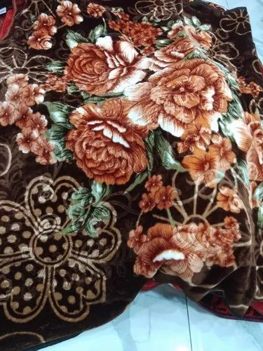 Printed Mink Blanket Double Bed 2kg, Size: 200x220cm