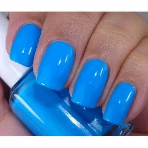Blue Color Nail Polish, कलर्ड नेल पोलिश, रंगीन ...