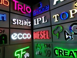 Acrylic Rectangular LED Sign Board