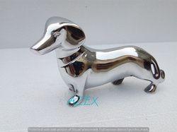 Metal Duchshund Figurine Statue