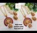 Karishma Kreations Matte Finish Pearl Jewellery Set - 100291100