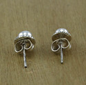 925 Solid Silver Fashion Jewelry Pearl Gemstone Stud Earring