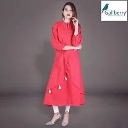 Ladies Designer Handloom Cotton Kurti
