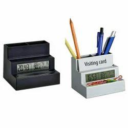 Digital Desk Clock Cum Pen Stand
