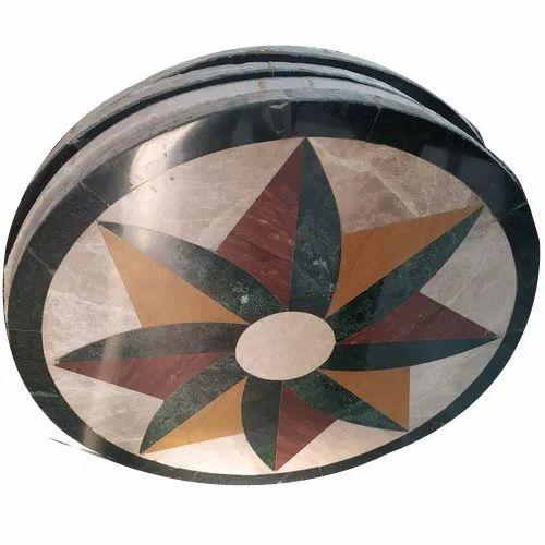 Designer Marble Floor Medallion, For Flooring, Thickness: 15 mm