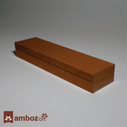 Polished Brown Wooden Pen Box, For Packing, Rectangle