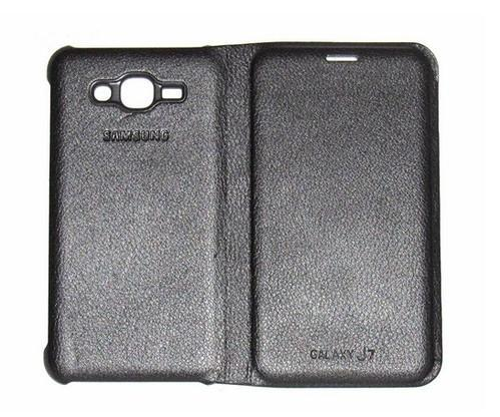 competitive price d84cb 0ea72 Lfcsamj7blk Flip Cover For Samsung Galaxy J7 (black)