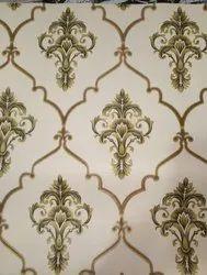 Royal Pattern PVC Interior Designer Wallpaper, For Office, 60cm