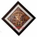 Oversize Ganesha Painting on Copper Sheet - Framed