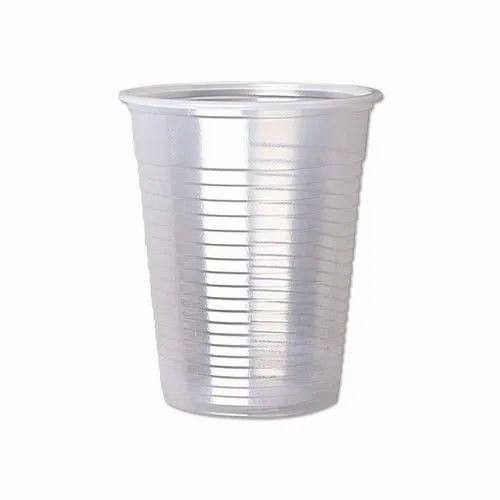Plastic Transparent Disposable Glass, Size/Dimension: 250ml