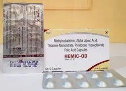 Methylcobalamin, Alpha Lipoic Acid, Thiamine Mononitrate, Pyridoxine Hydrochloride Capsule