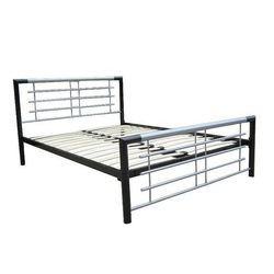 Black And Silver Steel Bed Frame