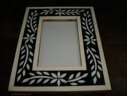 Black Wood Resin Inlay Photo Frame, Size: 6x4