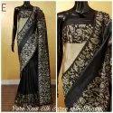6.3 m (with blouse piece) Casual Banglori Handloom Raw Silk Saree