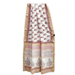 Maheswari Silk Printed Saree, Length: 6.3 m