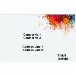 White Rectangle Visiting Card