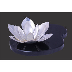 Silver PLATED LOTUS SHAPE CANDLE STAND