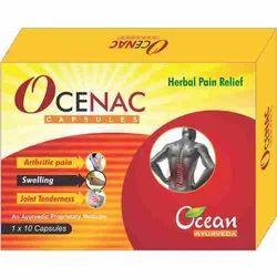 Ocean Ayurveda Herbal Pain Relief Ocenac Capsule, 1x10 Capsules, Packaging Type: Box