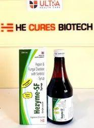 Pepsin(1:3000) 10mg  Fungal Diastase (1:2000) 50mg (Sugar Free) Syrup