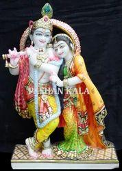 Unique Marble Radha Krishna Statues