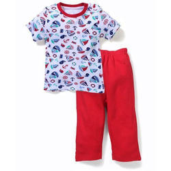 Red Printed Kids Dress