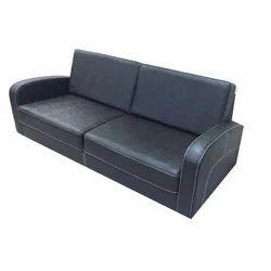 Black Office Leather Sofa