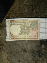 Old Indian 1 Rupee Note