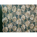 Floral Embroidered Net Fabric