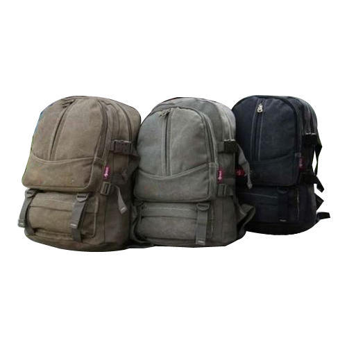 Canvas Backpack Travel Bag Rs 280 Piece Vardhman Bag Industries Id 17469292591