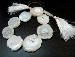 Natural White Solar Quartz Beads