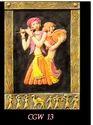 Rural Shades Terracotta Sculpted Indian Musical Frame