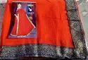 Silk Chiffon Designer Saree