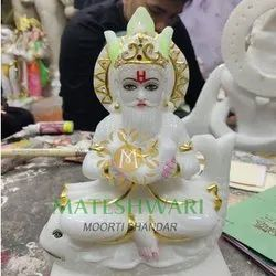 Marble Jhulelal Marble Statue