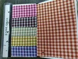 Multicolor 100-150 Cotton Check Fabric, 44, For Clothing