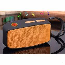 Black and Orange Rectangular Bluetooth Speaker