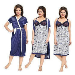 Ladies Blue Print Nightdress