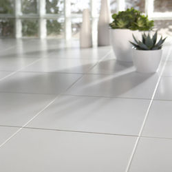 White Ceramic Floor Tiles