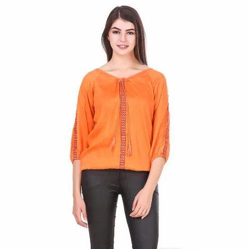 86b683fcd47 M And XXL Hosiery Ladies Orange Tops