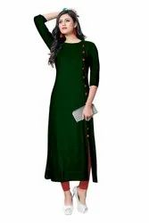 Women A-Line Formal Wear Designer Rayon Kurti, Size S, M, L, XL, XXL