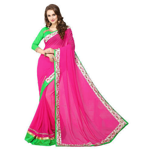 2ceaae23f4 Pink Casual Wear Ladies Saree, Rs 650 /piece, Soham Fashion | ID ...