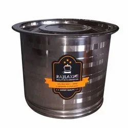 Silver Stainless Steel Rice And Flour Container, Capacity: 5kgs