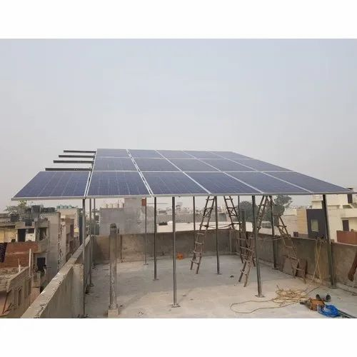 2 Kw To 500 Kw Solar Structure Design As Per Your Requirement In C With Lip Channel Rooftop Solar Mounting Structure Solar Module Mounting Structure Solar Mounting Structures Solar Panel Structure स र