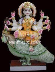 Marble Chakeshwari Devi Statue