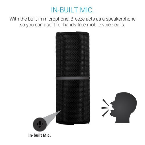 Portronics Breeze Bluetooth Speaker Water Resistance