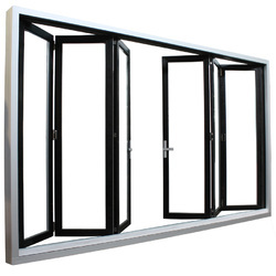 Aluminum White Bifold Door, Size: 6 x 5 Inch